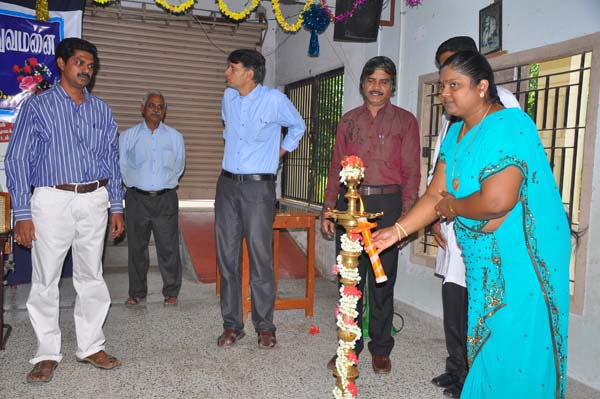Madha Deaf and Mute High School Principal Lighting Kuthuvilakku