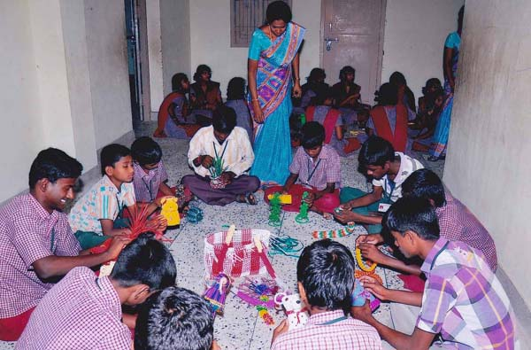 The Students Making Crafts items