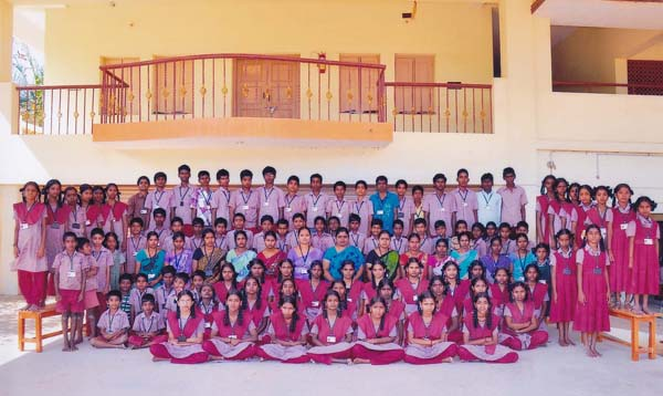 The Students from Deaf and Mute School With the Principal