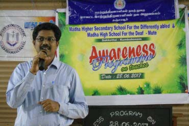 Awarness Program on Touches : Deaf & Mute School  On June 28, 2017