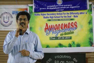 Awarness Program on Touches : Deaf & Mute School  On June 28, 2017