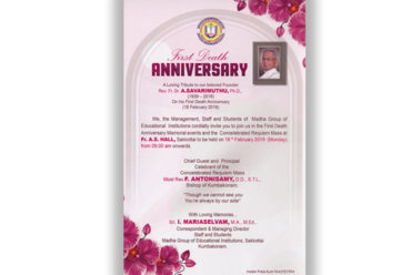 First Death Anniversary
