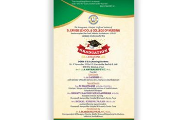 St.Xavier School & College of Nursing Graduation Ceremony