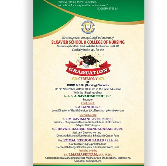St.Xavier School & College of Nursing Graduation Ceremony